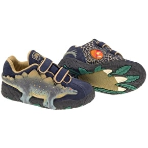 Dinosoles 3D X10 Stegosaurus Low Top Shoes - Blue